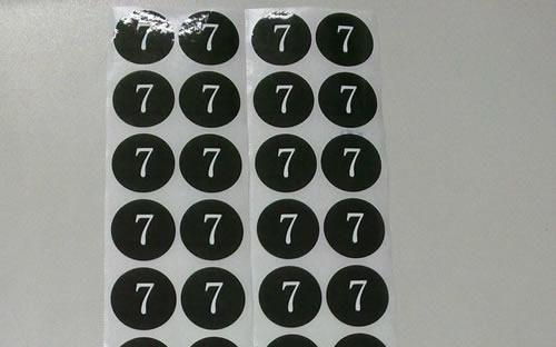 подгонянный ярлык стикера собственной личности черных круглых малых номеров свободной перевозкы груза водоустойчивый слипчивый
