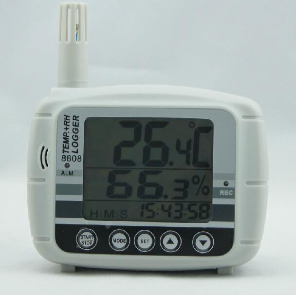 温度湿度露点計テスターデータロガー16KメモリーUSB 8808