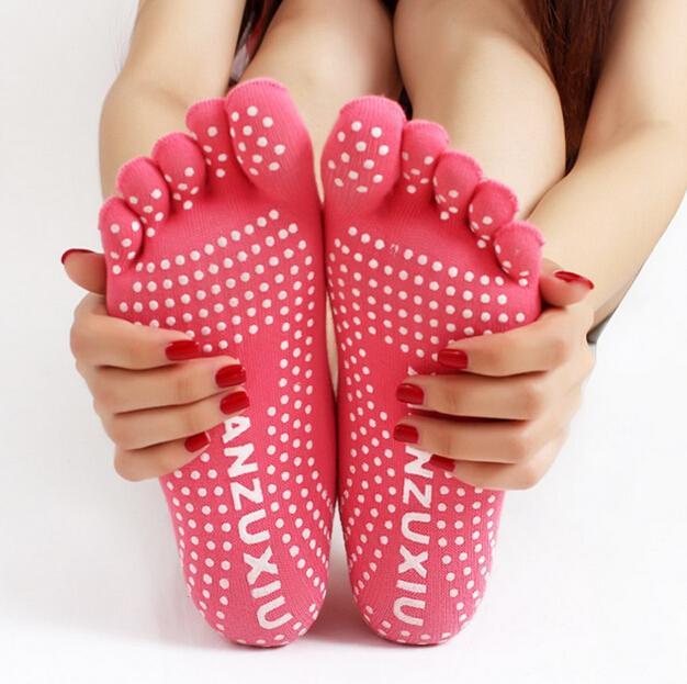 EE/_ UK/_ Men Women Sport Yoga 5 Toes Socks Exercise Massage Pilates Anti-slip Soc