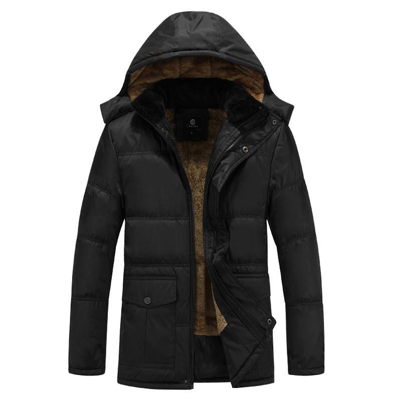 Atacado-2017 Inverno Homens Pato Branco Down Jacket 4XL 5XL Plus Size lã quente Ultra leve camada Feather Down Jacket Parka com capuz