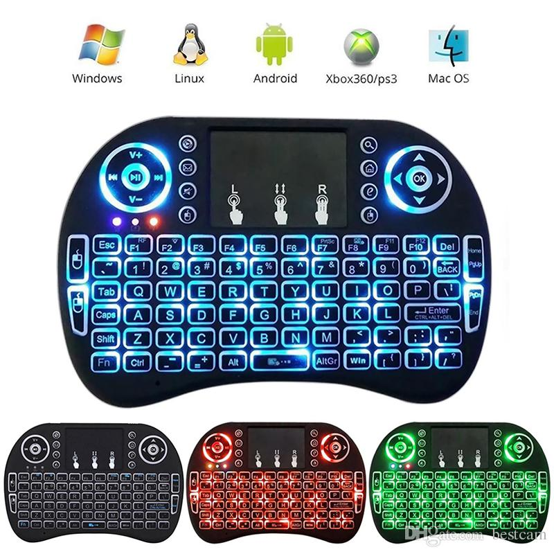 Fly Air Mouse 2.4G Mini i8 Wireless Keyboard Backlit With Backlight Red Green Blue Remote Controller For PC Pad Android TV Box PS3 Xbox360