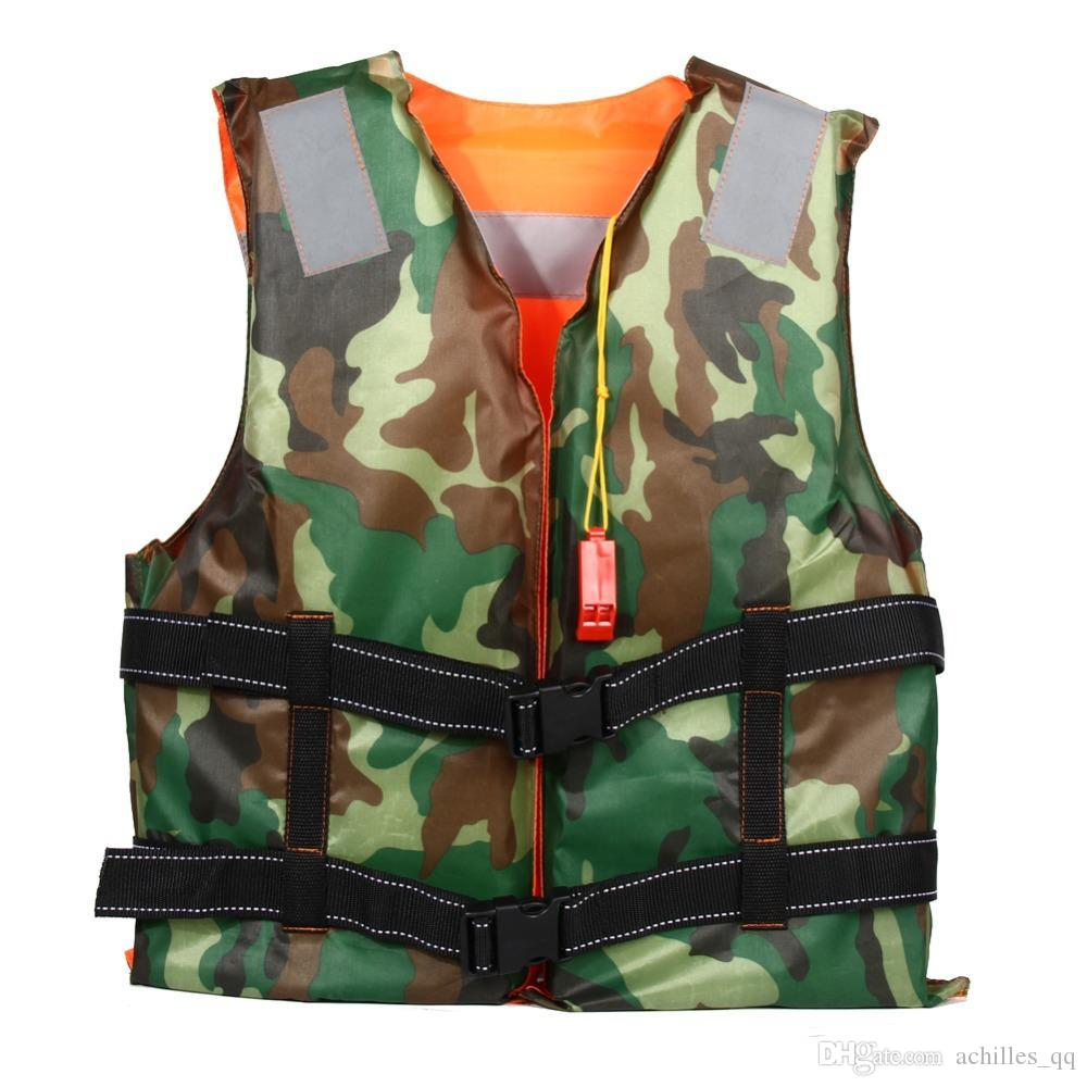 Adult Swimming Life Jacket Vest Foam Boating Ski Fishing Drifting Safety Jackets Colete Salva Vidas With Whistle Prevention
