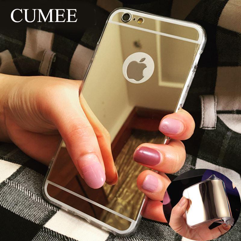 Étui de luxe en galvanoplastie pour iPhone 6, 6S, 5S, 5S, en TPU, pour iPhone 6 Plus / 6S Plus, souple, en TPU, couverture de téléphone