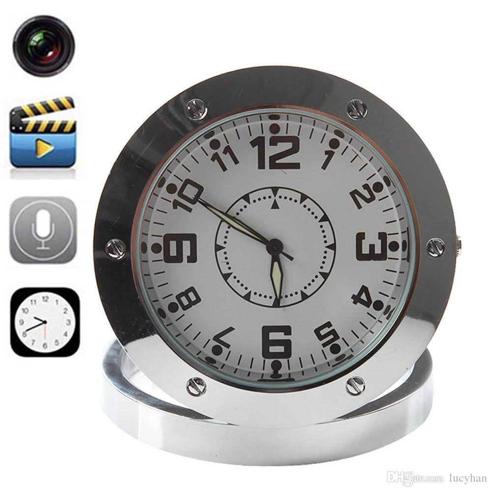 Newest Mini Alarm Desk Clock Recorder Nanny Surveillance Dvr Motion Sound Detector