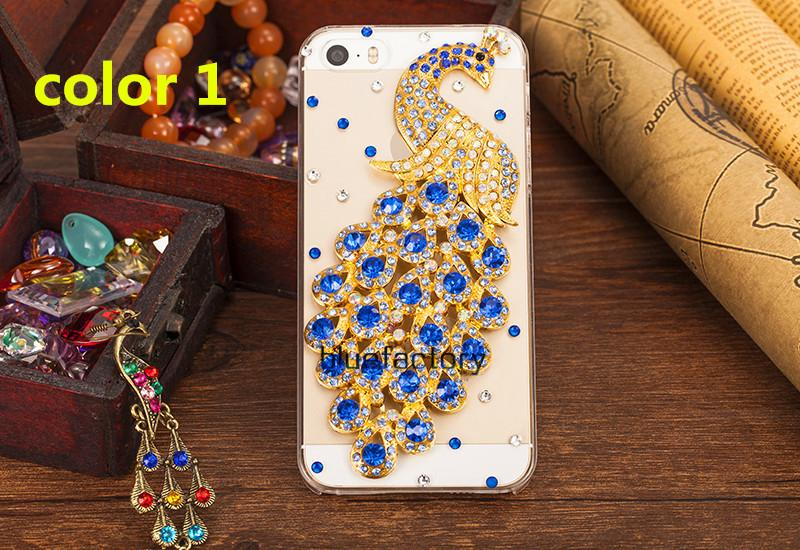 quality design ab747 055ce For Iphone 7 Rhinestone Diamond Peacock Crystal Case Fashion  BlingTransparent Cell Phone Protective Cover Shell Phone For Iphone 6s 7  Plus Waterproof ...