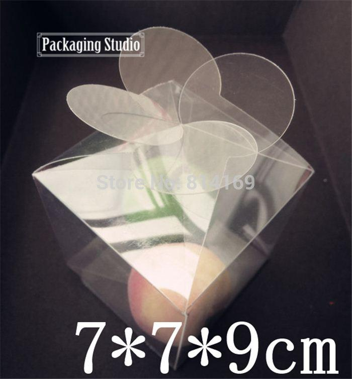 150pcs Leaf Clover PVC Boxes Flower clear Plastic Candy gift candle packaging boxes product display Boxes