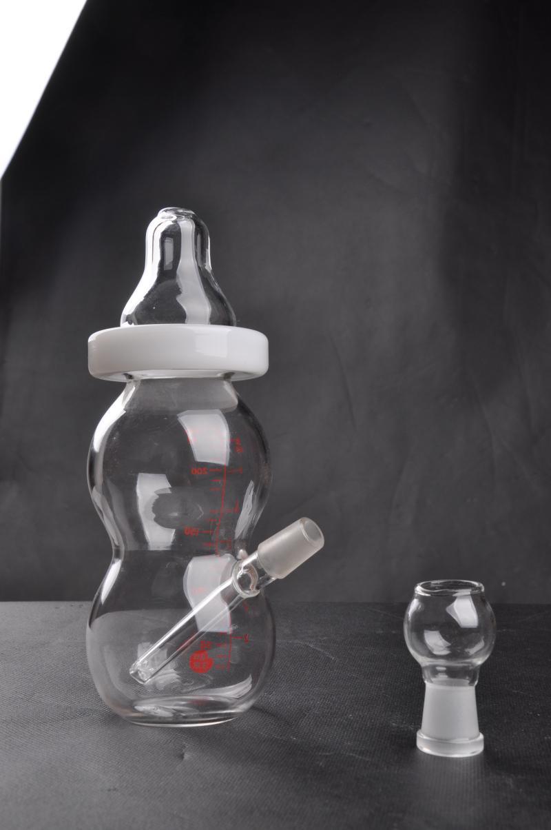 Новое поступление детская бутылочка мини стеклянные бонги В наличии стеклянная водопроводная труба с куполом и гвоздем 14 мм