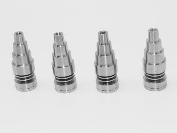 6 in 1 or in 1 dodeless 티타늄 네일 티타늄 GR2 손톱 조인트 10mm 14mm 및 18mm 유리 봉수 파이프 유리 파이프 유니버설 및 편리