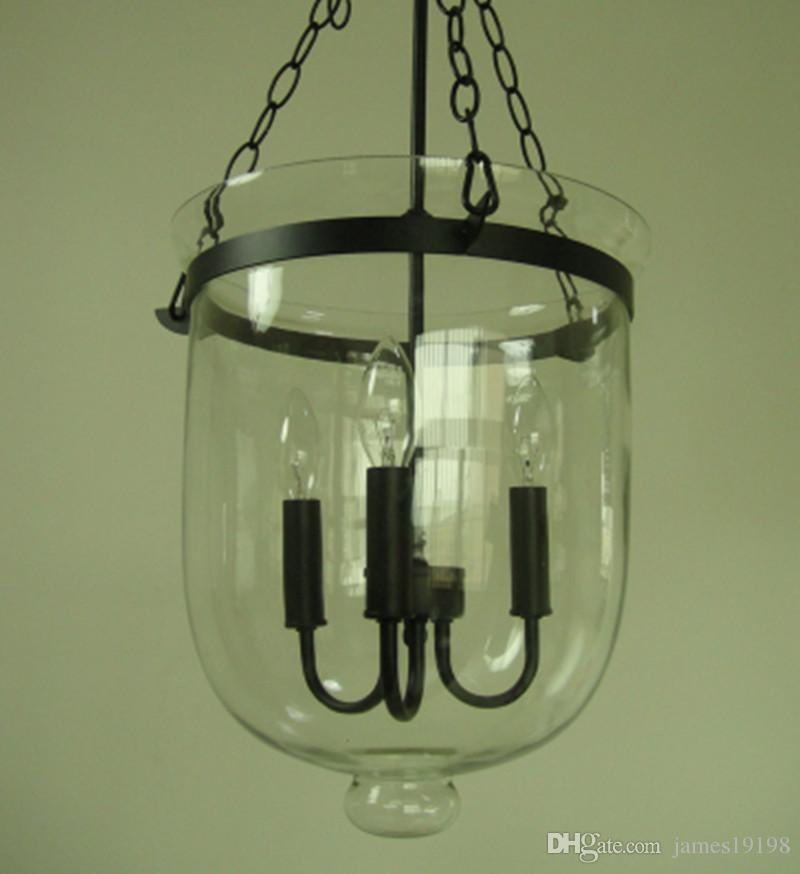 Glass Lantern Pendant Pottery Barn Style Chandelier Candle Dining With