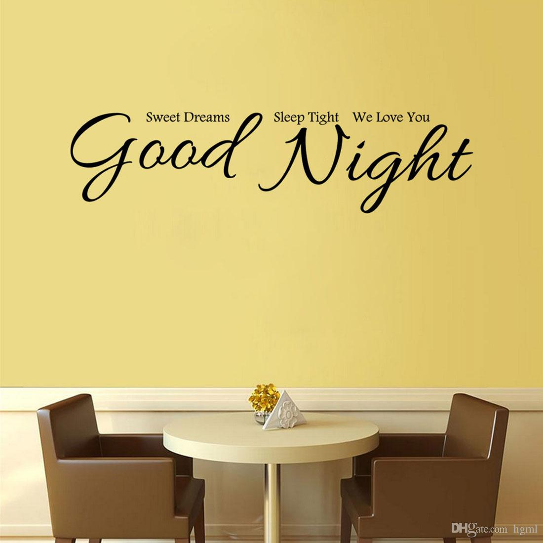 Good Night Wall Stickers Home Decor House Decorative Stickers Wall ...