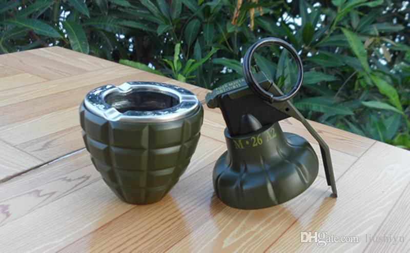 2019 DUMMY 2 In 1 DUMMY M26 M26A2 Smoke Grenade Shape Ashtray Windproof  Lighter Dark Green From Liushiyu, &Price