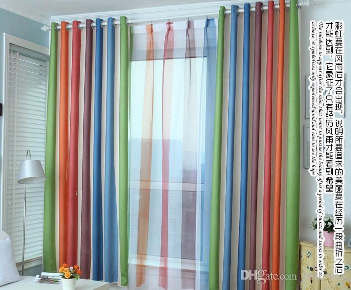 2016 Rainbow Curtains + Sheers Boys Girls Bedroom Curtains Dhl ...