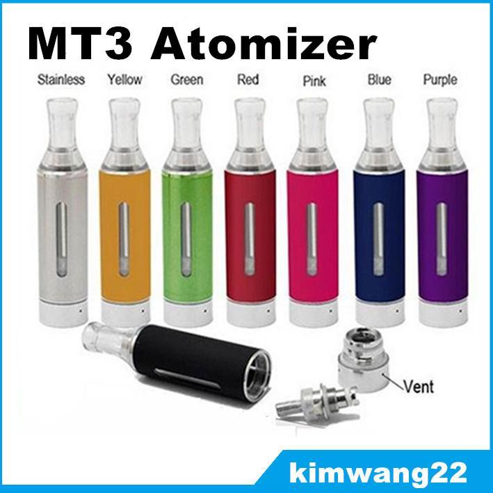 Novo Evod MT3 Atomizador Ego Clearomizer Atomizador Cigarros Eletrônicos Vaporizador Multi-cor Atomizador fit 510 Threading Evod Ego Bateria