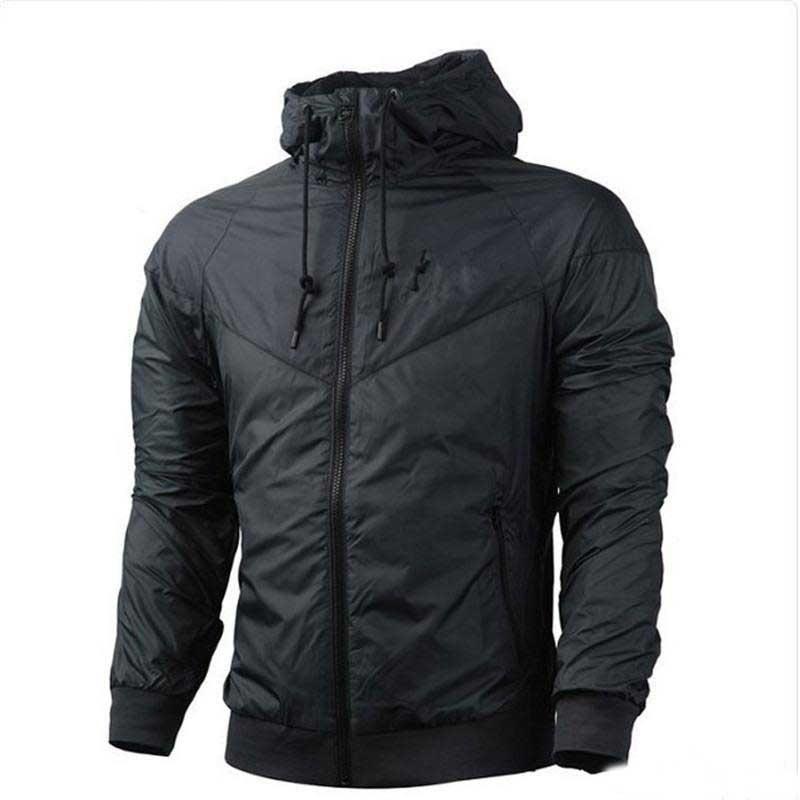Hombres Mujeres chaqueta de deporte capa de la manera camiseta de manga larga con capucha de la cremallera de otoño Deportes rompevientos ropa para hombre tamaño asiático sudaderas