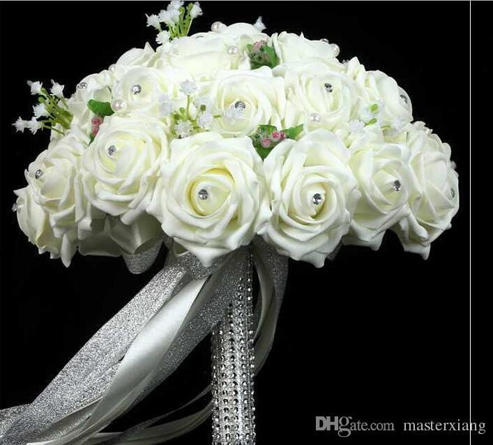 Elegant 2015 Wedding Bouquet Good Wedding Gift Beads Pearls