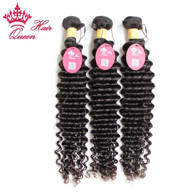 Queen Hair Official Store Peruviaanse Krullende Virgin Hair Extensions Diepe Golf Diep Krullend Maagd Haar 3pcs Lot Factory Out Prijs 12 tot 28 inch