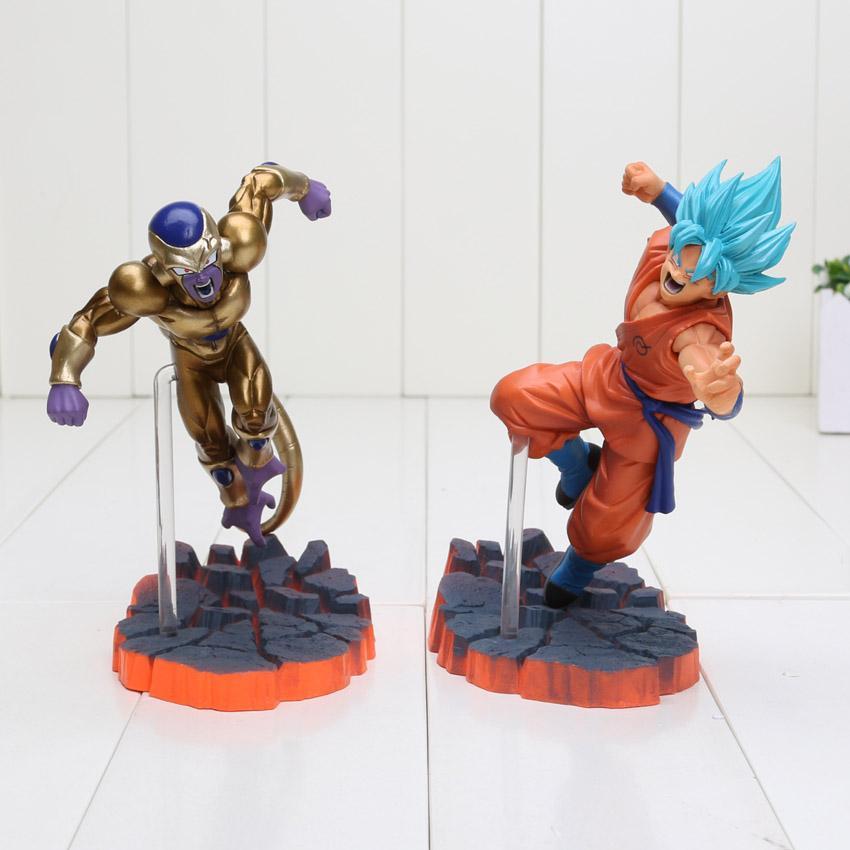 14cm Dragon Ball Z Super Saiyan Son Goku Freeza Juguetes PVC Action Figure Collectible Model Doll Kids Toys