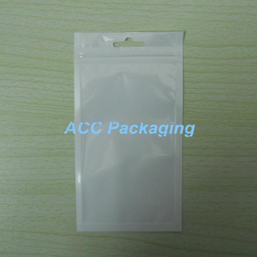 """8.5x16cm (3.3 """"* 6.3"""") Beyaz / Temizle Öz Mühür Açılıp kapanabilir Fermuar Plastik Perakende Çanta Perakende Paketi ile asın Delik Paketli Paketleme"""