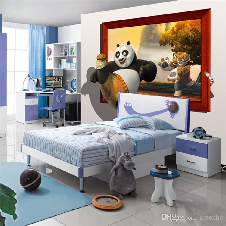 ... 3D Kung Fu Panda Fototapete Lustige Tapete Filmplakat Groß  Hintergrundbild Schlafzimmer Flur Kinderzimmer Scherzt Zimmer Home ...
