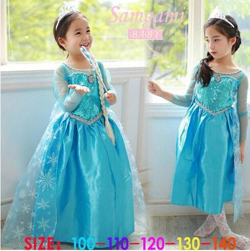 2019 2014 Frozen Elsa Anna Princess Summer Long Sleeve Dress Birthday Party Dresses Vestido Elsa Frozen From Lichaohai Price Dhgatecom