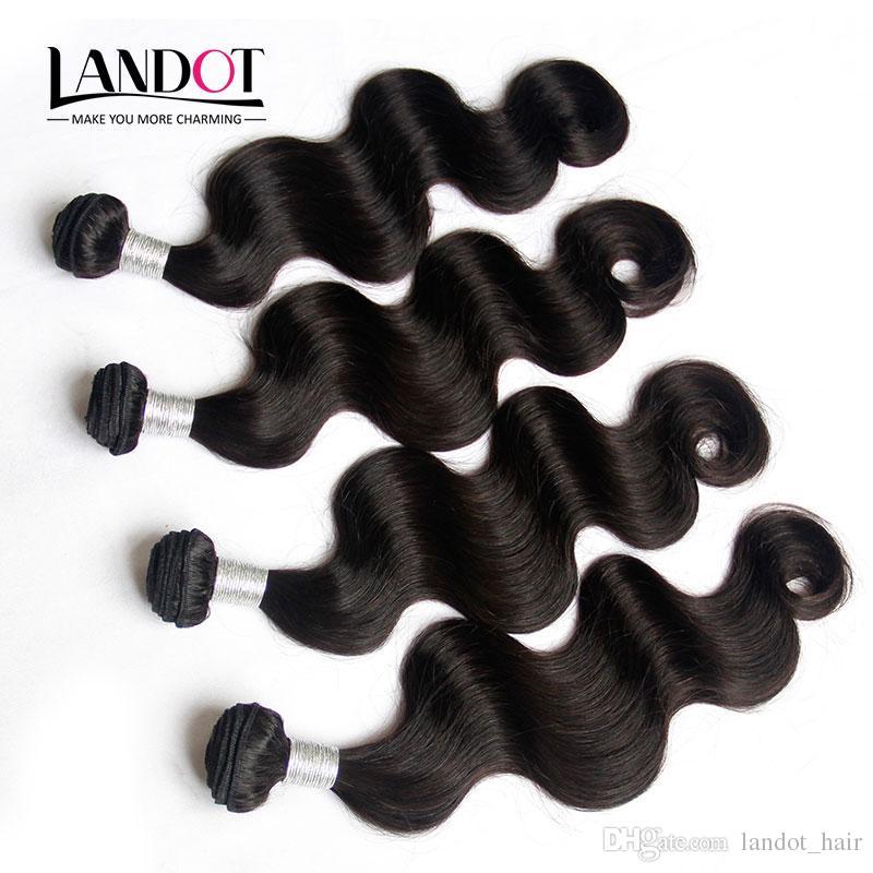 "9A grado Sin procesar Camboya Virgin Hair Body Wave 100% Human Hair Weave Bundles 4 PCS 8 ""-36"" Camboya ondulado Remy Hair Extensions"