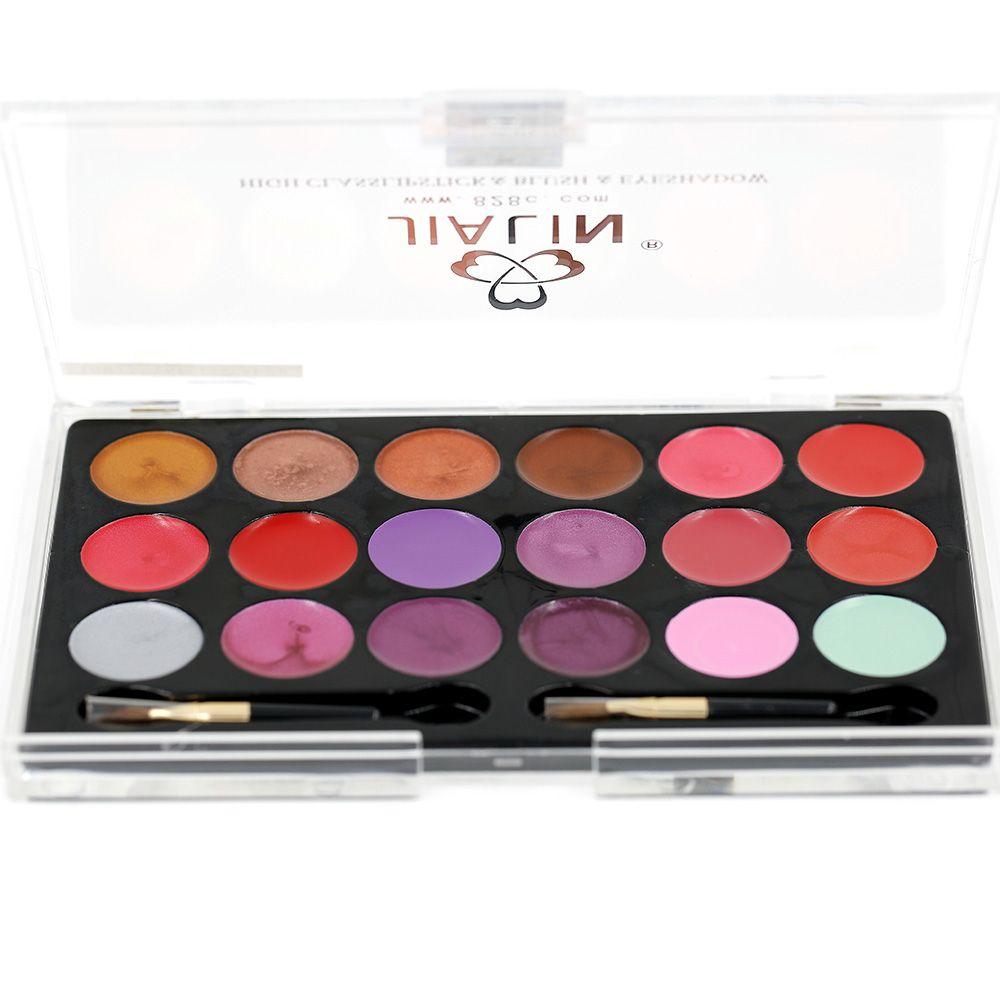 Lip Stick professionale 18 colori Palette Lip Gloss Rossetto trucco 3 pz / pacchetto 95 g 15915-A02 #