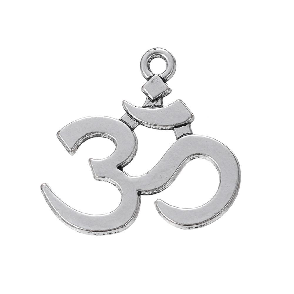 무료 배송 새로운 패션 쉽게 diy 20pcs 옴 요가 종교 매력 목걸이 팔찌 또는 팔찌에 맞게 판매 판매