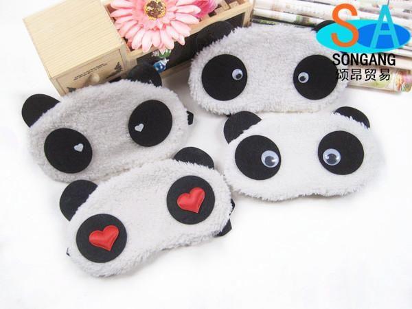 Gli stili cinesi svegli della toppa dell'occhio del panda di stili 7 mescolano gli animali creativi e nuovi del fumetto del parassita del panda del blinder trasporto libero