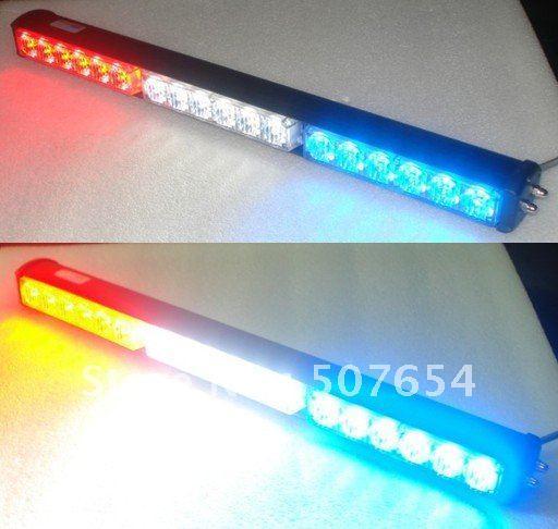 Alta intensidade DC12V 18 W Led luzes de emergência, luzes da polícia, luz de advertência da grade, barra de luz strobe led, à prova d 'água