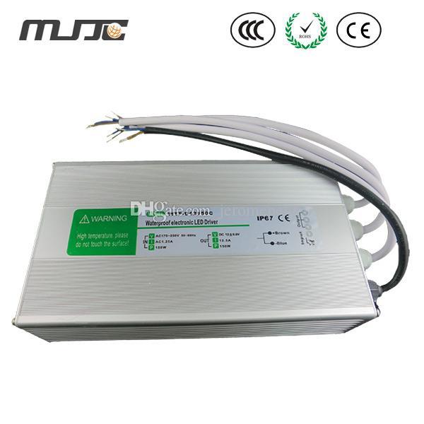 150W Impermeabilice la fuente de alimentación electrónica del transformador del controlador LED 110V 220V CA a 12V 24V DC para el módulo LED al aire libre y la iluminación de tira