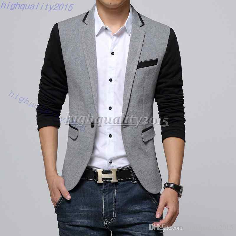 New Style Men Blazer 2015 Suit Men Brand Casual Jacket Latest Coat