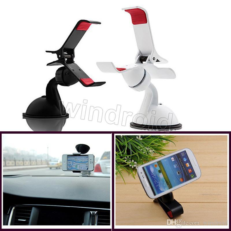 الزجاج الأمامي العالمي 360 درجة تناوب الهاتف الخليوي سيارة جبل حامل لفون 6 سامسونج ملاحظة اللوحي مع حزمة البيع بالتجزئة 30pcs