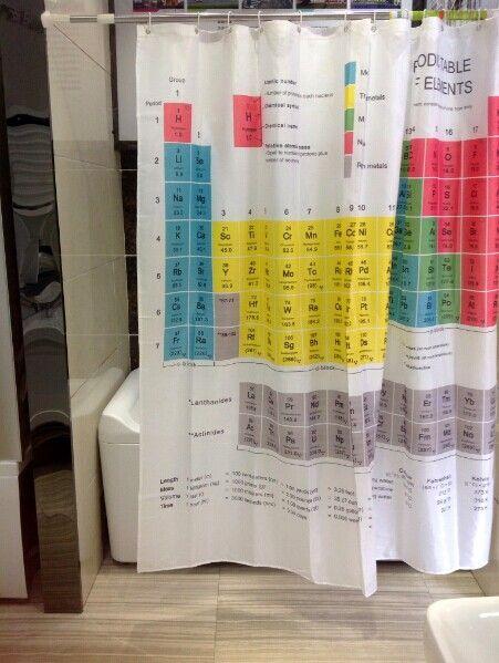Versão quente da venda a cortina de chuveiro periódica do sheldon da teoria de Big Bang da cortina de chuveiro dos elementos