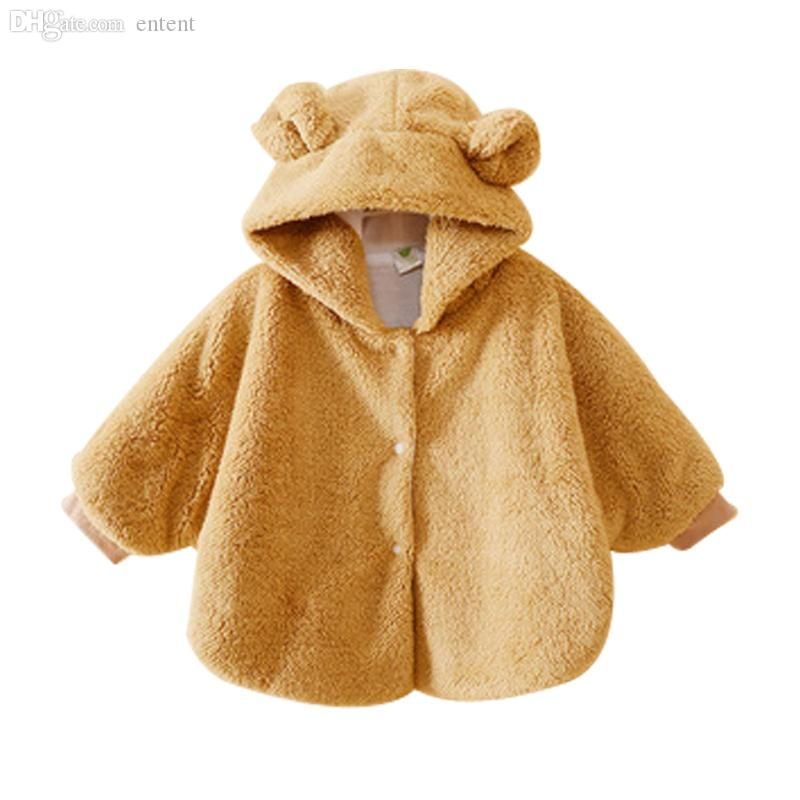 Fur Cloak Coat Toddler Newborn Kids Baby Girls Jacket Hooded Outwear Winter Warm