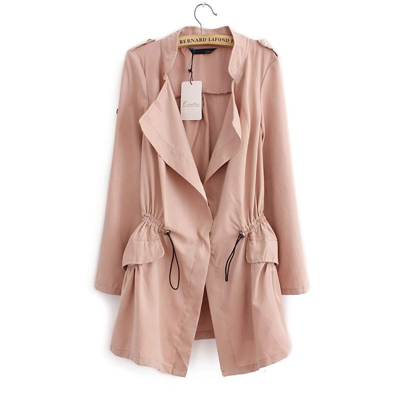 Long Manteau Femme 2017 New Spring Plus Size Trench Coat Slim Thin Burderry Women Trench Coats Lapel Waistcoat Chaquetas Mujer