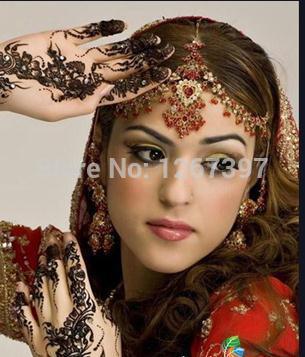 Autentyczny oryginalny import Kashmir Henna Natural Jet Black Roślina Henna Tatuaż wklej do Indii 7Colors