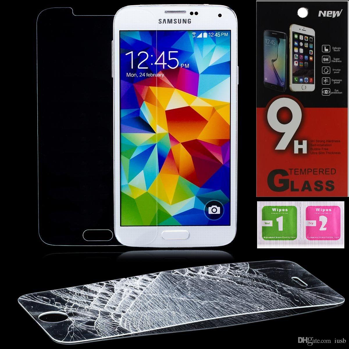 Voor Galaxy S5 S6 Opmerking 4 5 iPhone 6 6S Plus HTC M9 LG G4 Sony Xperia Z4 Z5-scherm Protector Gehard Glas Anti-Krasfilm 9H 2.5D Film