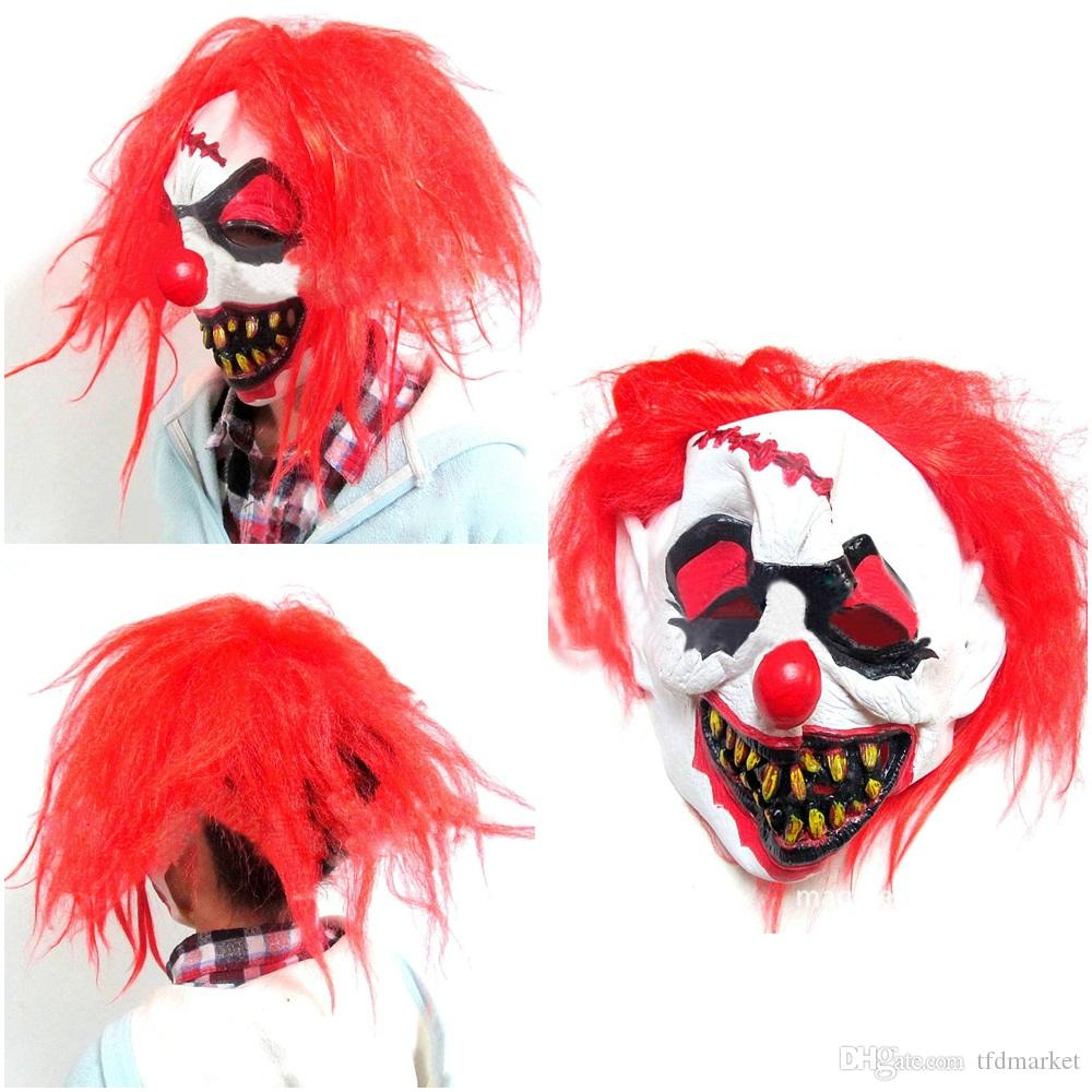 halloween scary clown mask foam latex rubber party masks adult mens smiffys fancy dress masks