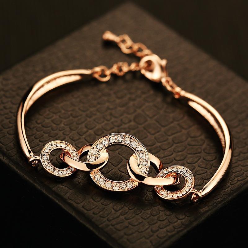 18K gold-plated bracelet new arrival women fashion female full ...