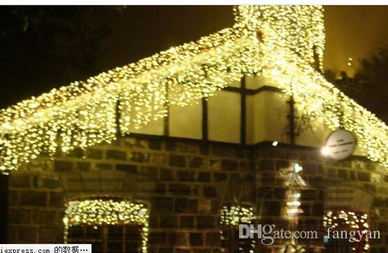 FEER 10 * 1M 448 LED Gordijnen String Garland Licht Kerst Nieuwjaar Bruiloft Holiday Party Home Luminaria Decoratie Lampen