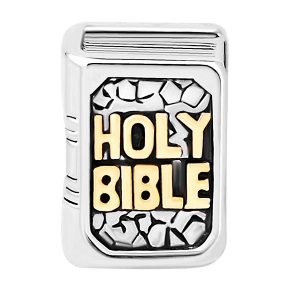 MYD Schmuck Big Hole Spacer Religion Kreuz Bibel Europäische Charm Bead für Armband Ohrringe Halskette