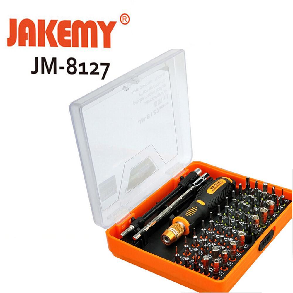 Jakemy JM-8127 Intercambiáveis Magnético 54 em 1 Multipurpose Precision Chave De Fenda Set Ferramentas de Reparo para Celular PC