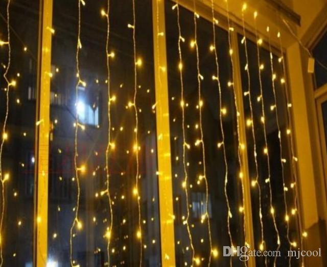 1600 LED 조명 10 * 5M 커튼 조명, LED 조명 문자열 플래시 페어리 축제 파티 라이트 크리스마스 라이트 웨딩 장식 AC110V-220V