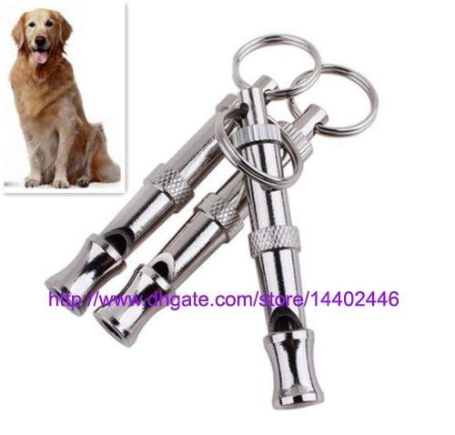 200pcs a lot Pet Dog Training Adjustable Ultrasonic Sound Whistle Dog Training Tool Cute Training , free ship