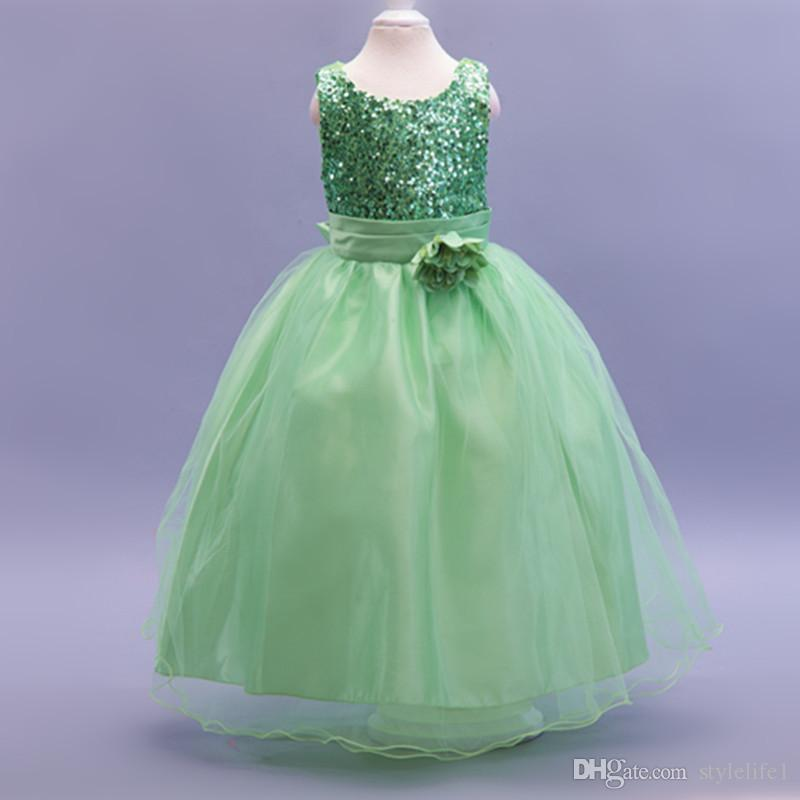 2015 Kids Wedding Dresses Childrens Clothing Pageant Party Dresses