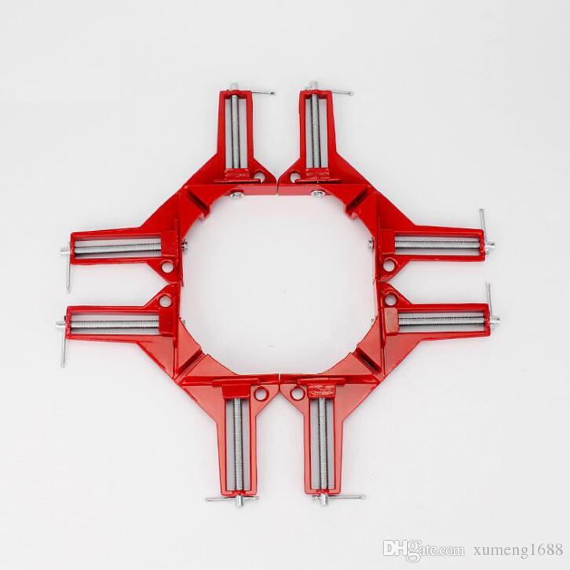 90 클립 목공 도구 용 코너 클램프 클립 손 90도 목공 목재 클램프 수직 토글 금속 직각 클램프