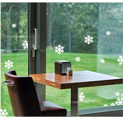 10Sets Christmas New Year Snowflake Wall Stickers the windows paste cabinet stickers Christmas decoration stickers