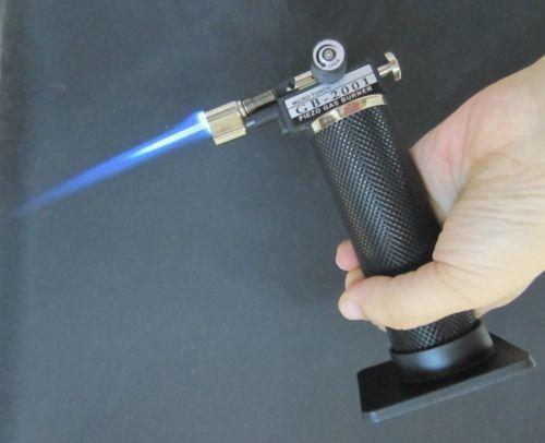 마이크로 토치 가스 토치 GB2001 자기 점화 블루 불꽃 배관 솔더링 용접 불꽃 가스 버너 녹는 브레이징 2500 F 시가 토치 라이터