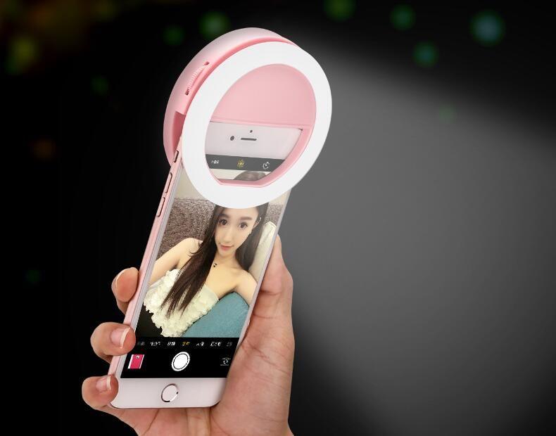 Portable Universel Selfie Anneau Flash Lampe Téléphone Mobile LED Remplir Lumière Selfie Anneau Flash éclairage Photographie Photographie Pour Iphone Samsung