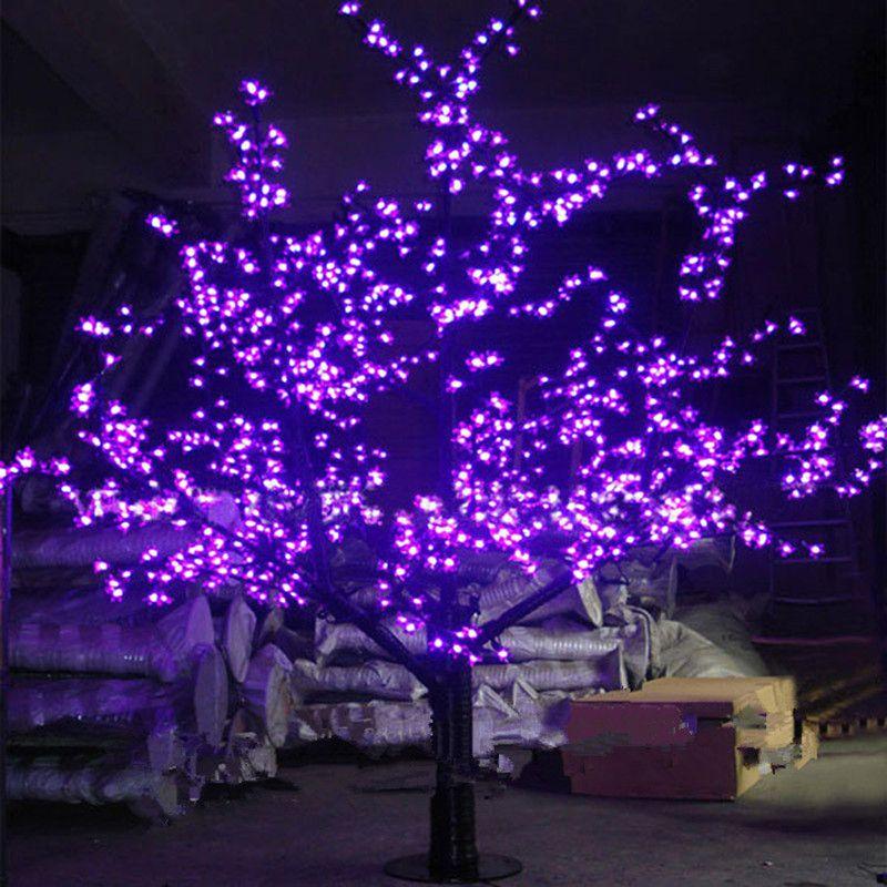 في الهواء الطلق الصمام الاصطناعي الكرز زهر شجرة ضوء شجرة عيد الميلاد مصباح 1248 قطع المصابيح 6ft / 1.8 متر ارتفاع 110VAC / 220VAC المعونة قطرة الشحن